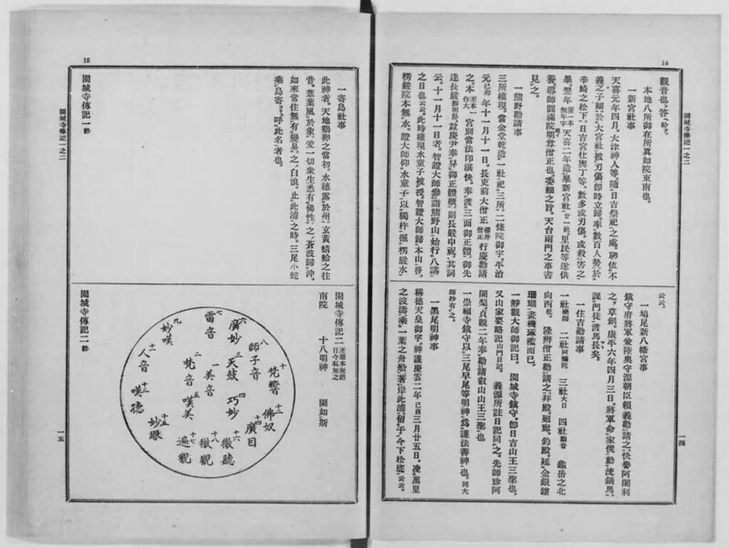 『大日本仏教全書  127』_コマ番号:011_『園城寺伝記』_「園城寺伝記一之二」_002