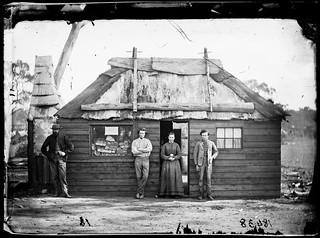 Bakery, Home Rule gold fields, New South Wales, Australia, ca. 1872, American & Australasian Photographic Company | by State Library of New South Wales collection