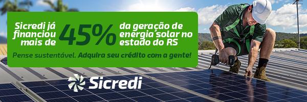 Financie seu sistema de energia solar com o Sicredi!