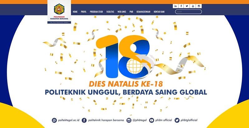 Website Politeknik Harapan Bersama Tegal