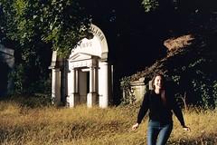 Julie in green-wood cemetery, Brooklyn NY