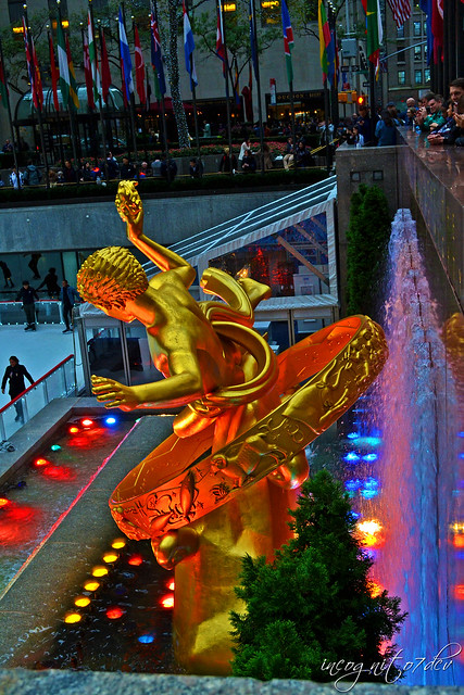 Prometheus Sculpture Statue Fountain The Rink Rockefeller Center Manhattan New York City NY P00597 DSC_1154