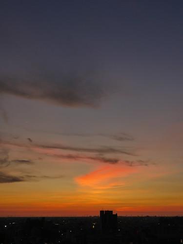 彰化 夕陽 sunset 八卦山 黃昏