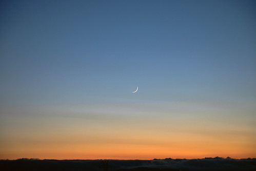 Waxing Moonset | by pdweinstein
