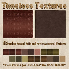 TT 18 Seamless Sensual Satin and Suede Autumnal Timeless Textures