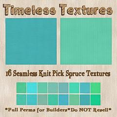 TT 16 Seamless Knit Pick Spruce Timeless Textures