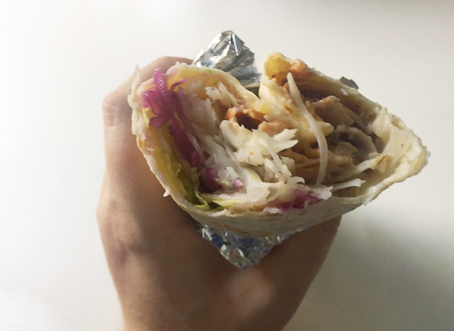 Dürüm Kebap - angebissen / half eaten
