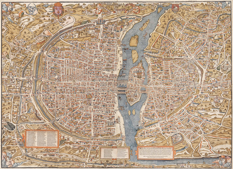 Map of Paris by Truschet and Hoyau