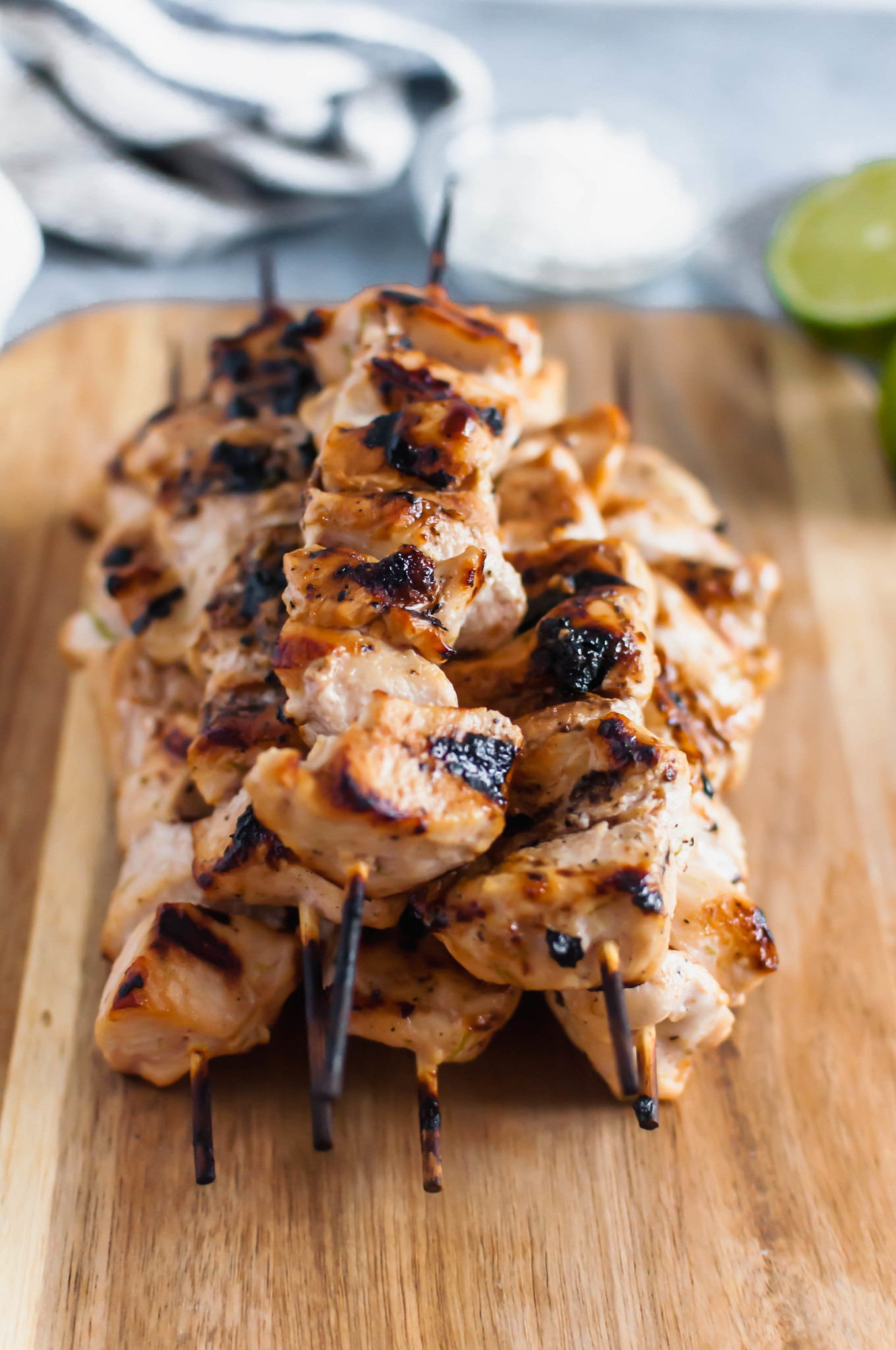 Need some tropical vibes in your life?! This Grilled Coconut Chicken will transport your mind to the beach. Simple, healthy and packed with coconut flavor. A super easy summer meal!