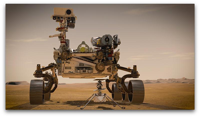 Artists renderingof Perserverance rover