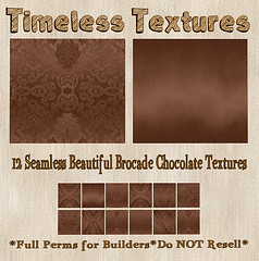 TT 12 Seamless Embossed Brocade Chocolate Timeless Textures