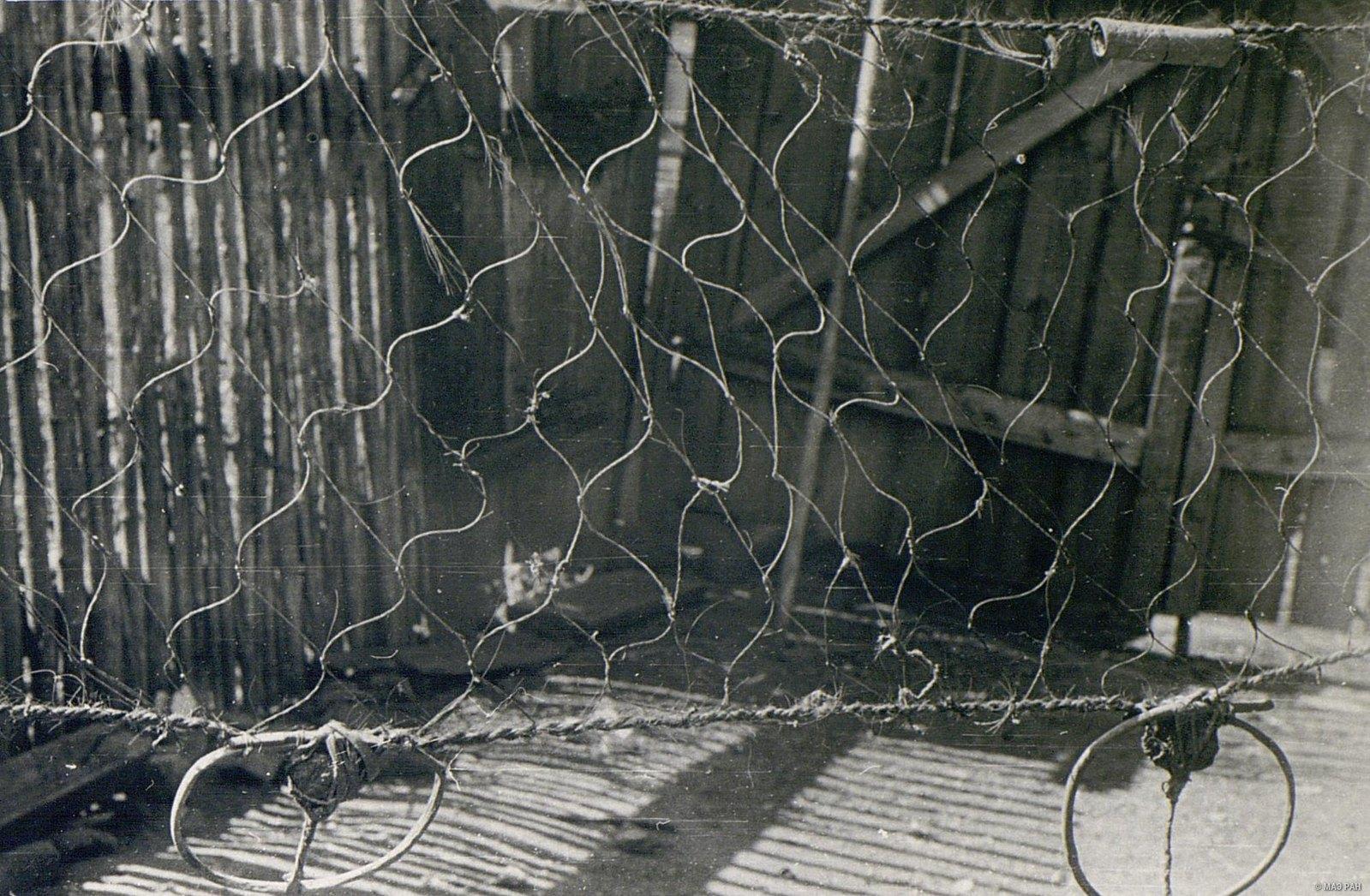 Поставная сеть из крученого конского волоса