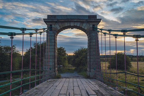 horkstow bridge horkstowbridge suspensionbridge north lincolnshire northlincolnshire landscape tbnate sony sonya7iii a7iii sigma sigma35art 35mm art architecture clouds cloudy sunset trees road sky afternoon field