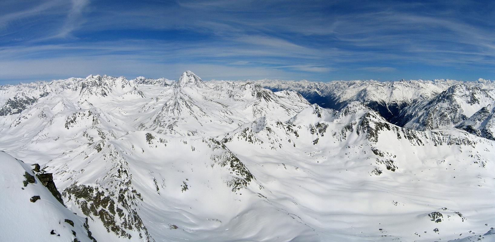 Flüela Wisshorn Albula Alpen Schweiz panorama 23