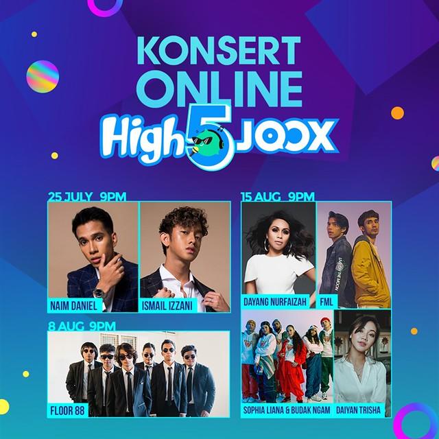 Konsert Online High5Joox Poster