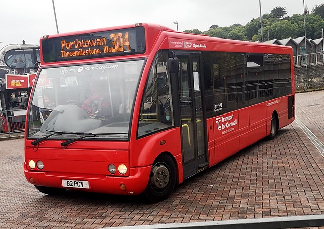 Transport for Cornwall Optare Solo B2 PCV departing Truro Bus Station