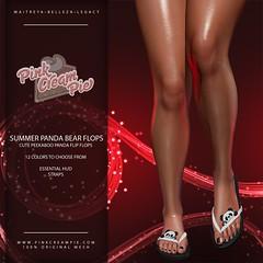 Summer Panda Bear Flip Flops @ Fly Buy Friday 7/24