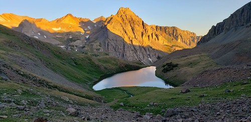 bluelake colorado mountains alpinelake sunrise