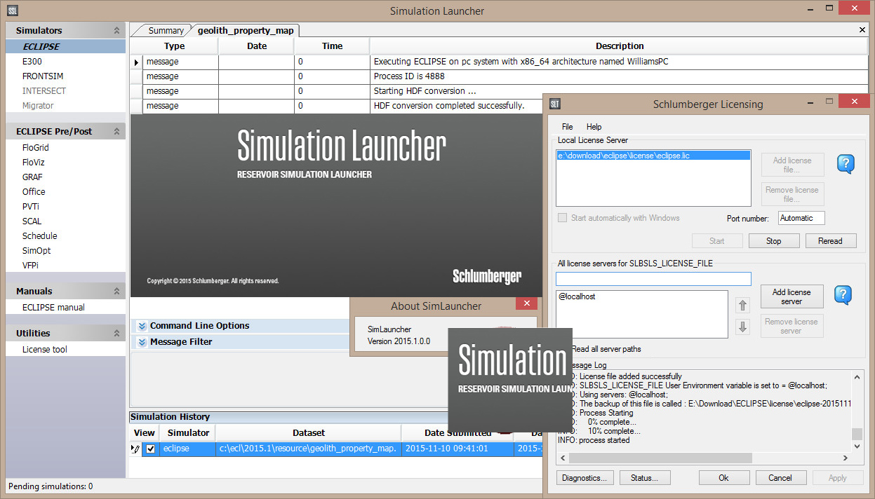 Working with Schlumberger ECLIPSE 2015.1 full license