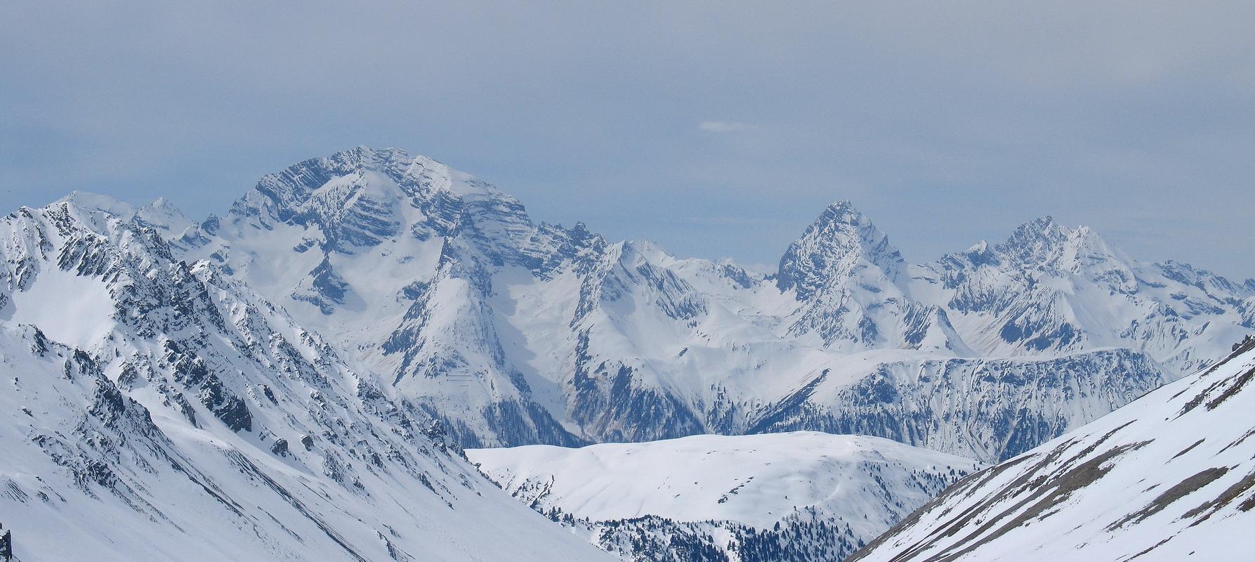 Gletscher Ducan Albula Alpen Switzerland panorama 27