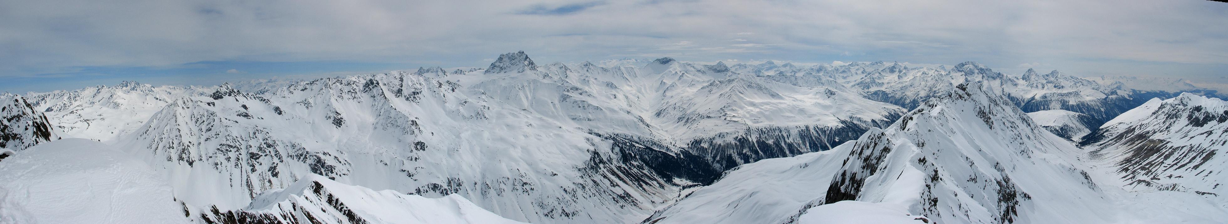 Gletscher Ducan Albula Alpen Switzerland panorama 36