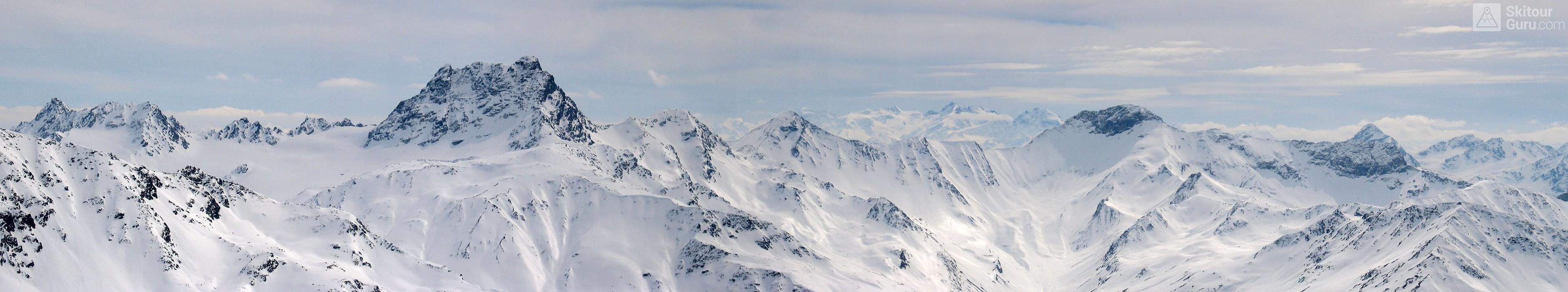 Gletscher Ducan Albula Alpen Switzerland panorama 38