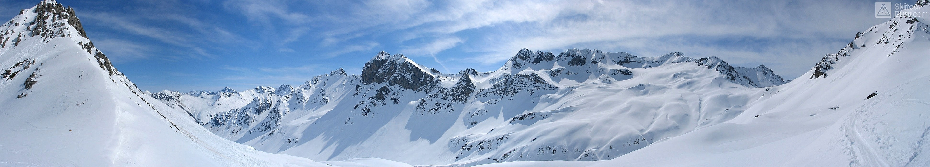 Gletscher Ducan Albula Alpen Switzerland panorama 30