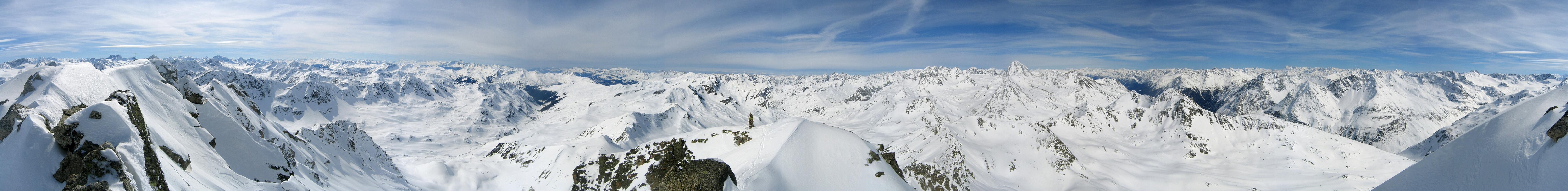 Flüela Wisshorn Albula Alpen Schweiz panorama 24