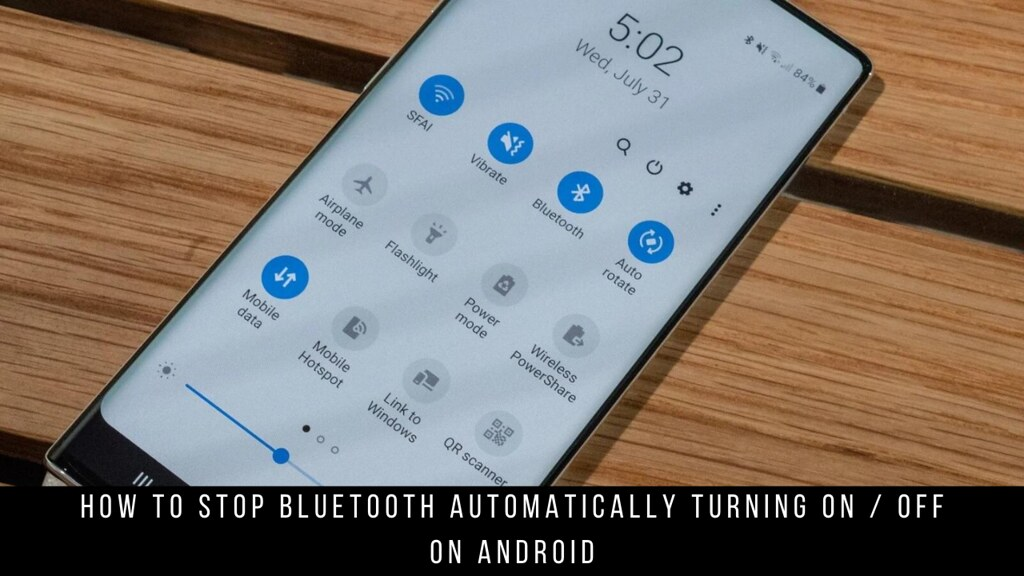 How to Stop Bluetooth Automatically Turning On / Off on Android