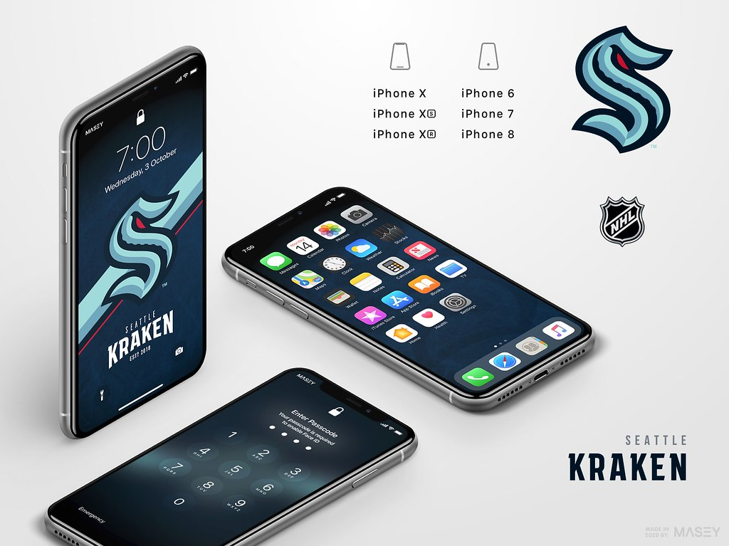 Seattle Kraken iPhone Wallpaper