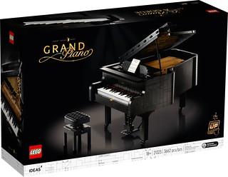 在家裡展開迷你音樂會! LEGO 21323 Ideas 系列【樂高鋼琴】Grand Piano 將於 8 月 1 號開始奏樂~