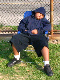 Spectator Mike Barnes fell asleep at this Roxborough/Germantown baseball game in 2005. | by tedtee308