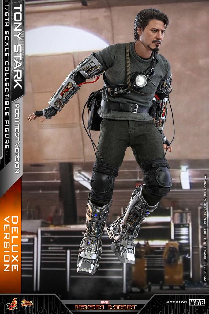 附上了可愛的「Dum-E」!Hot Toys - MMS582 -《鋼鐵人》「東尼‧史塔克(裝甲測試版本) 豪華版」(Tony Stark (Mech Test Version) Deluxe Version)1/6 比例人偶