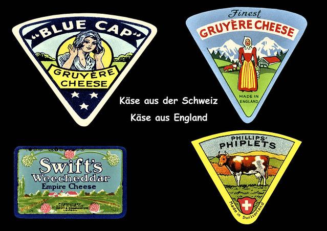 Juli 2020 ... Käse-Etiketten. Käse aus England, Käse aus der Schweiz