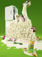 3D Typography Design Pringles
