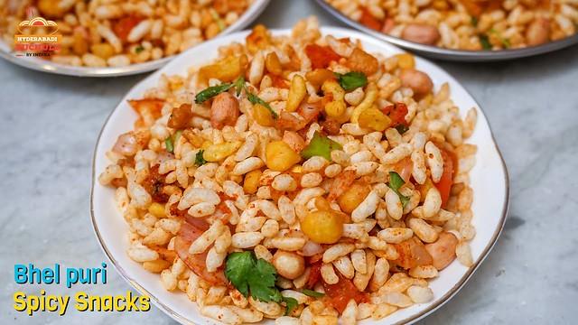 Bhel Puri Recipe in Telugu   Instant Hyderabadi Tasty Bhel Puri Preparation at Home