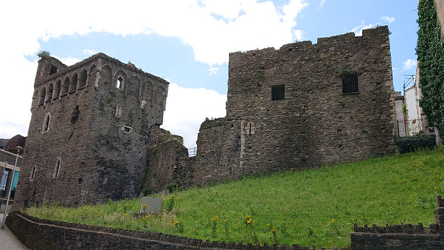 Swansea castle towers