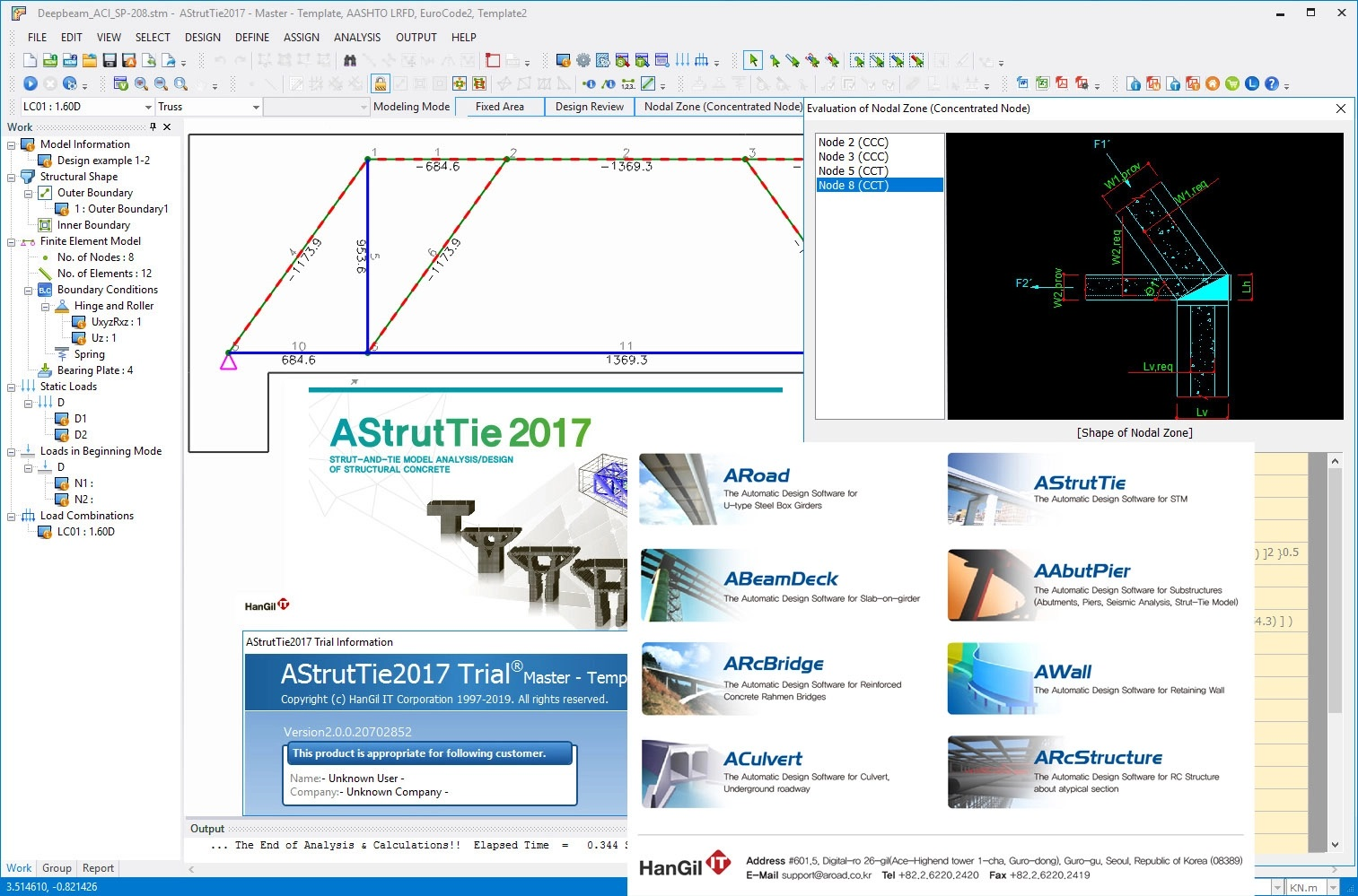 Working with HanGil IT AStrutTie 2017 v2.0 full license