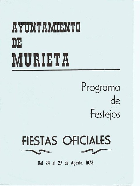 Programas de Fiestas de Murieta