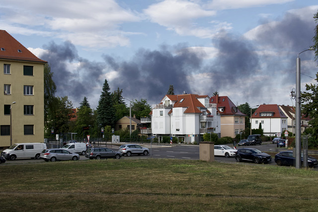 Es brennt in Leipzig