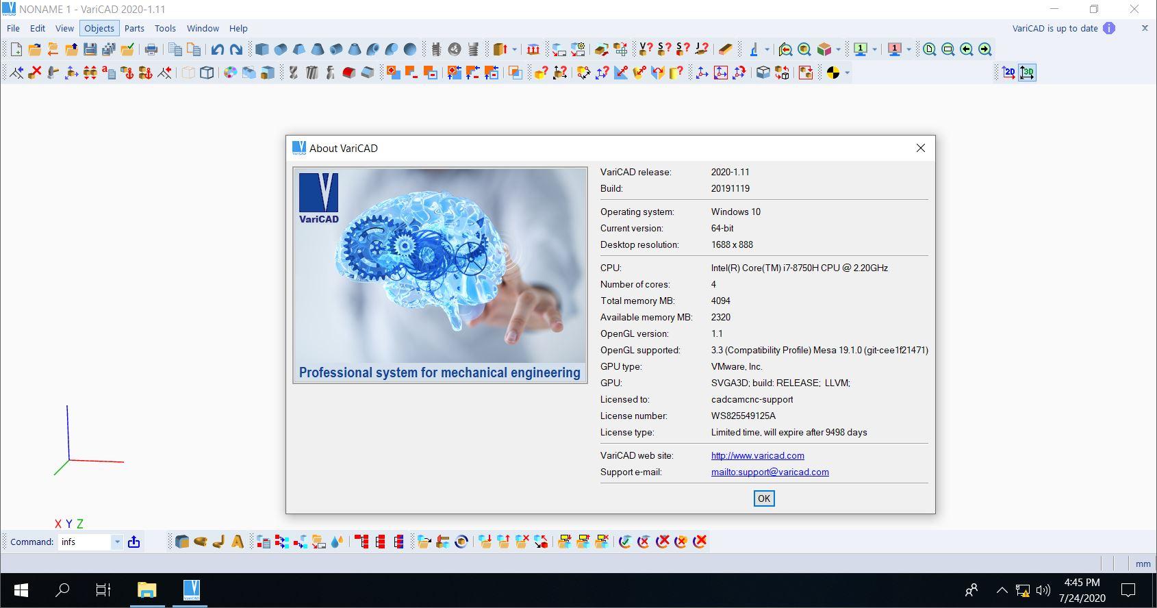 Working with VariCAD 2020 v1.11 full license