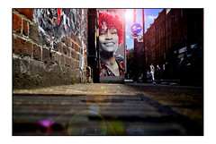 WHITNEY LONDON STREET ART by POSTMAN ART
