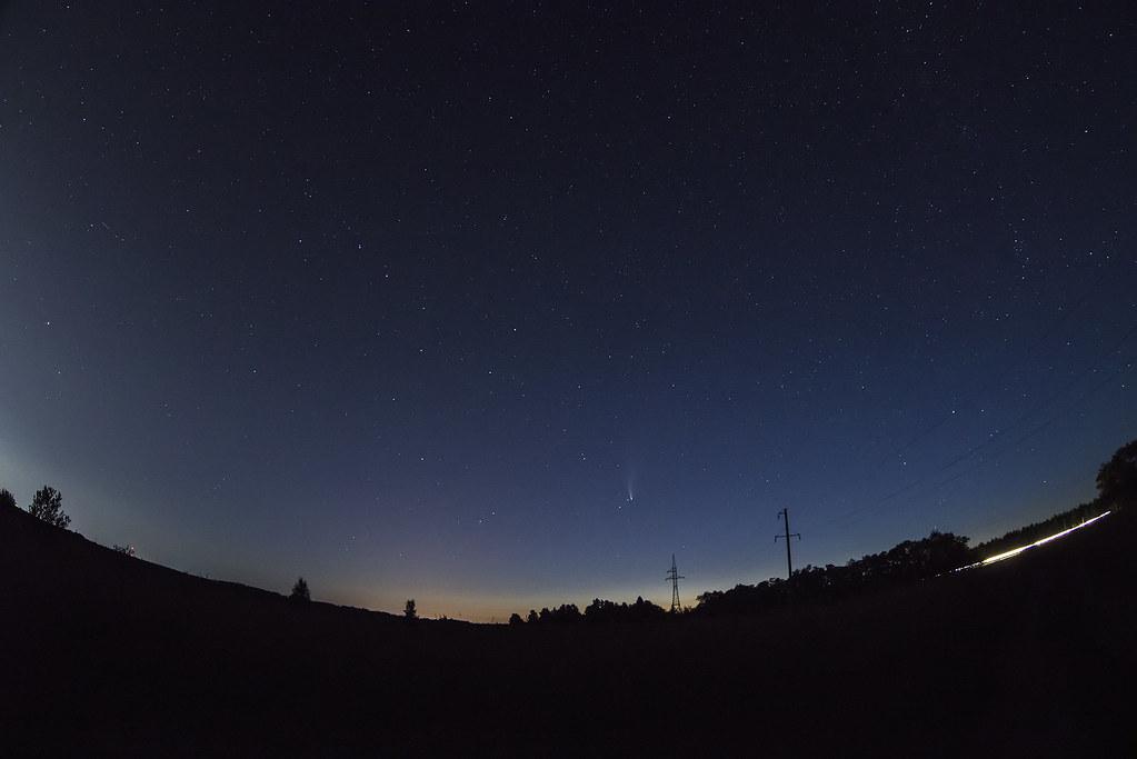 Комета Neowise В созвездии Большой Медведицы