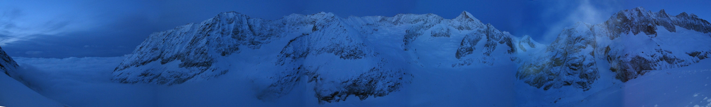 Grosser Aletschhorn Berner Alpen / Alpes bernoises Schweiz panorama 01