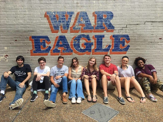 Laura Minton and other past Auburn resident assistants