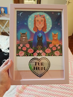 MPA Art in Ikea Frame with Shannon Meow embellishment