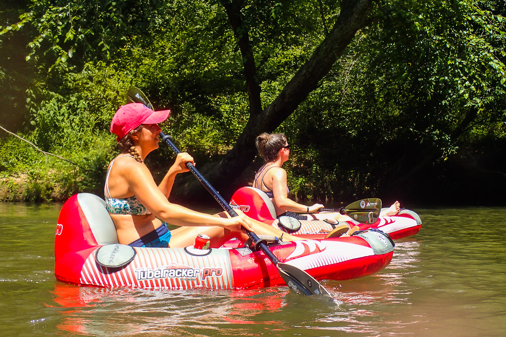 Semi-kayaking, semi-tubing