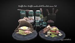 Waffle Bar-Waffle sandwich&Chocolate sauce Set