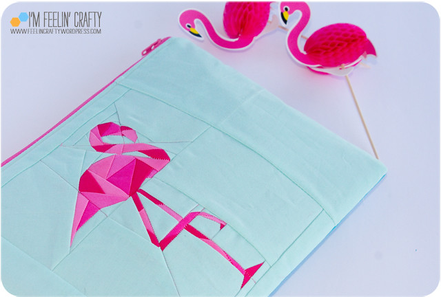 FlamingoPouch-detail-ImFeelinCrafty