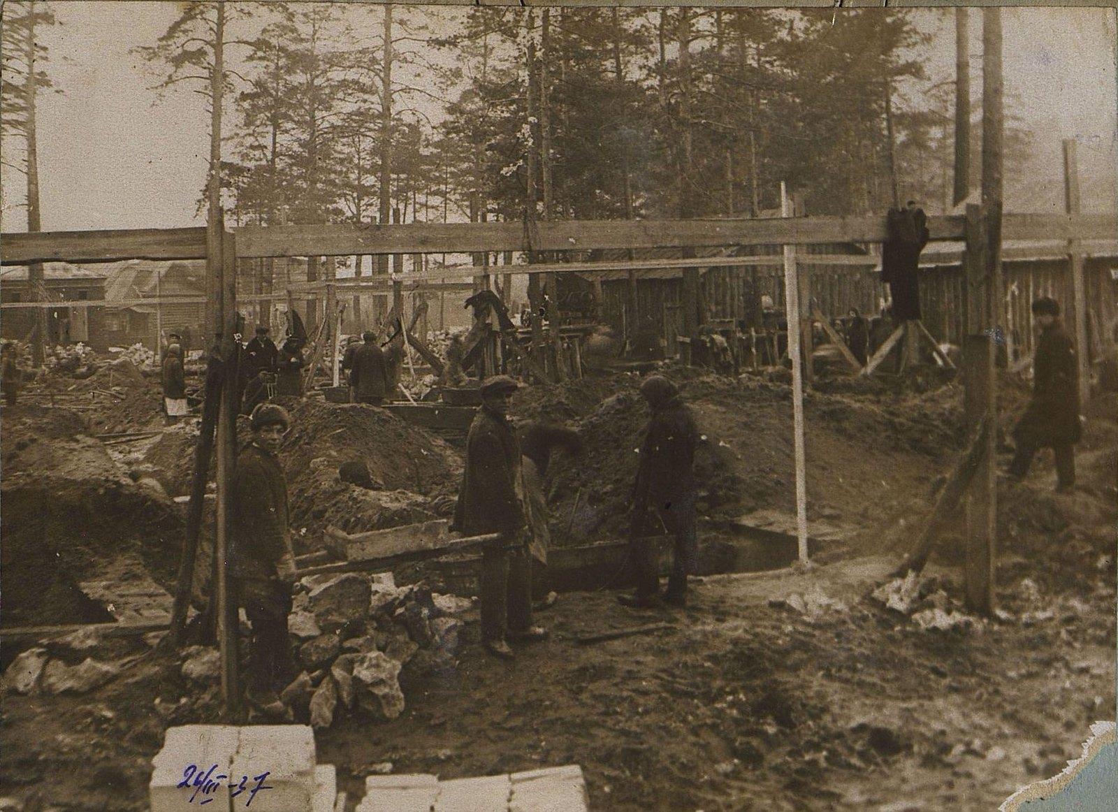 02. 1937. Строительство школы на улице Красина, дом 27. 24 марта